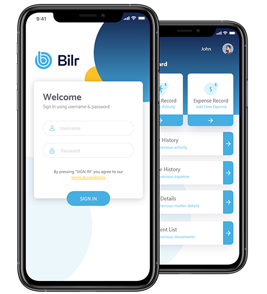 bilr legal billing software